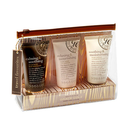 Grace Cole Vanilla & Fig Travel Favourites Gift Set 50ml