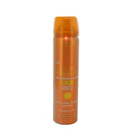 L'Oreal Glam Bronze Brunette For Face Medium Tan 75ml
