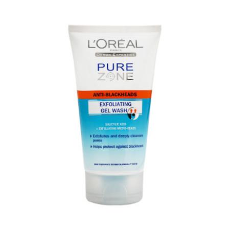 L'Oreal Pure Zone Anti Blackheads Exfoliating Gel Wash 150ml