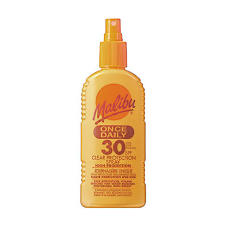 Malibu Once Daily Clear Protection Spray SPF30 200ml