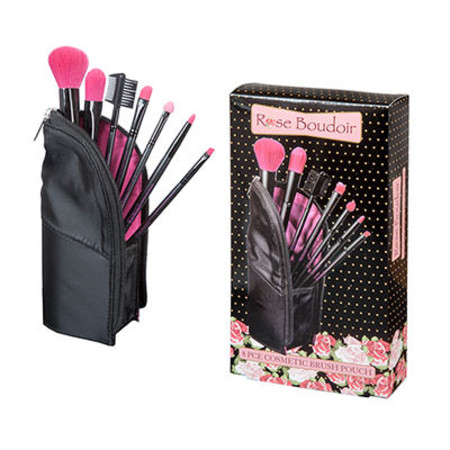 Royal Rose Boudoir 8 Piece Cosmetic Brush Pouch