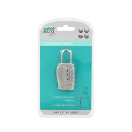 Safe & Sound Travel Combination Padlock