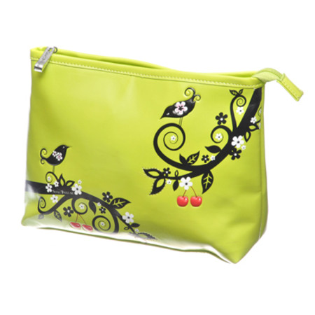 Shagwear Large Lime Green Cherry Tree Make Up Bag