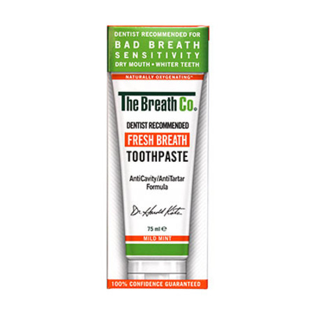 The Breath Co Fresh Breath Toothpaste Mild Mint 75ml