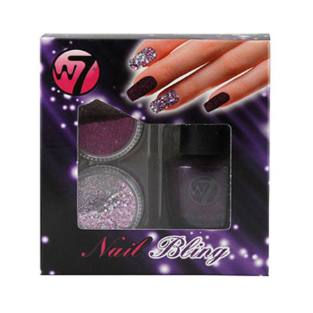 W7 Nail Bling Gift Set 15ml x2 1g