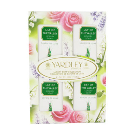 Yardley Lily of the Valley Luxury Soap Collection 4 x 100g