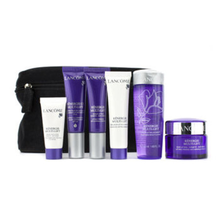 Lancome Renergie Multi-Lift Travel Set: Beauty Lotion + Anti-Wrinkle Cream + Emulsion + Corrector + Serum + Eye Cream + Bag 6pcs+1bag
