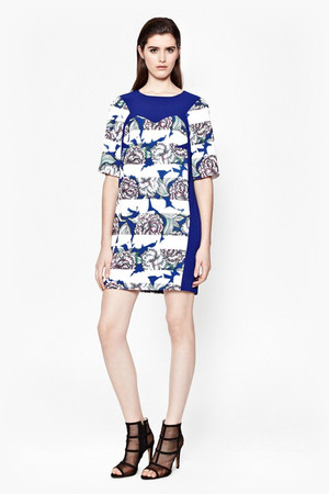 Bonita Spring Stripe Tunic Dress - MONARCH BLUE MULTI