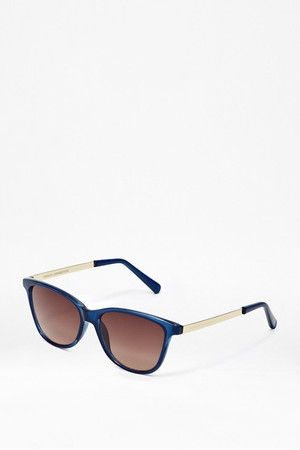 Crystal Retro Sunglasses - CRYSTAL BLUE