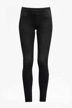 Four Way Stretch Pull On Jeans - Washed Black