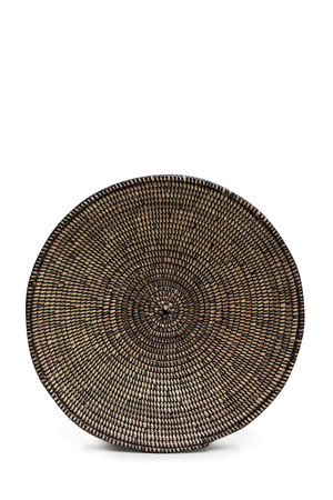 Hand-Woven Straw Bowl - Natural And Black