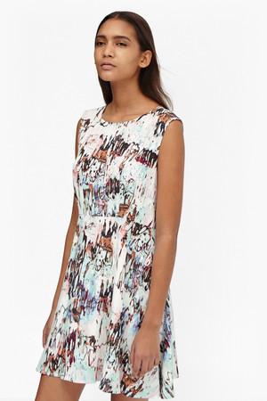 Isla Ripple Flared Dress - Day Dream Multi