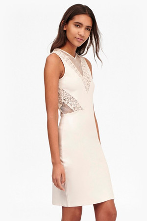 Savannah Mesh and Lace Bodycon Dress - Brule