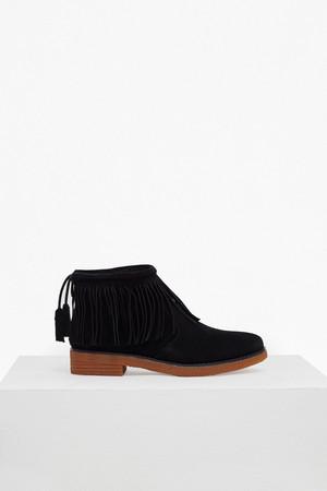 Vanessa Fringed Suede Boots - Volcano Grey