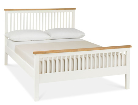 Atlanta Two Tone High Footend Double Bed with Optional Storage