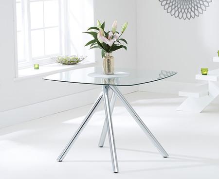 Elva 100cm Glass Dining Table