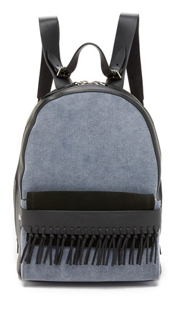 3.1 Phillip Lim Bianca Mini Backpack With Fringe - Denim/Black