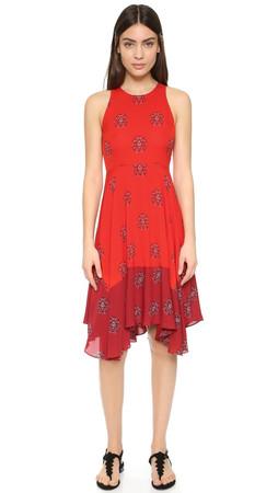 A.L.C. Elisa Dress - Red Multi