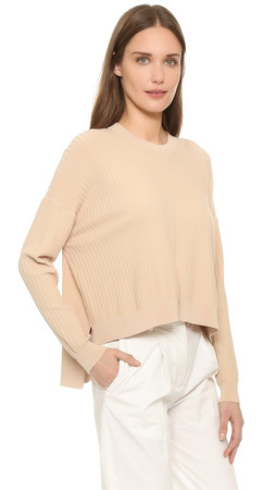 Acne Studios Issy Ribbed Pullover - Nougat Beige