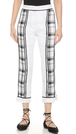Acne Studios Olwyn Frosted Pants - Blue Check
