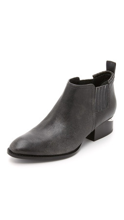 Alexander Wang Kori Ankle Booties - Black/White
