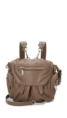 Alexander Wang Mini Marti Backpack With Covered Zips - Taupe