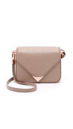 Alexander Wang Mini Prisma Envelope Cross Body Bag - Latte