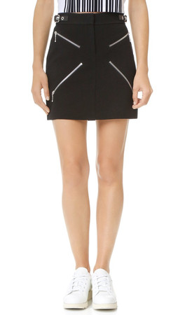 Alexander Wang Miniskirt With X Zippers - Jet