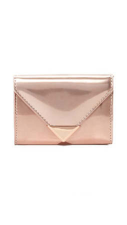 Alexander Wang Prisma Envelope Compact Wallet - Rose Gold