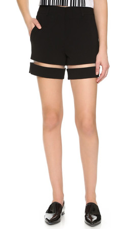 Alexander Wang Shorts With Fishing Line Detail - Onyx