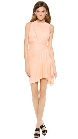 Alexander Wang Sleeveless Draped Dress - Nectar