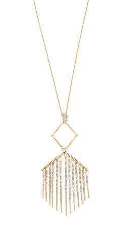 Alexis Bittar Articulating Encrusted Fringe Necklace - Gold