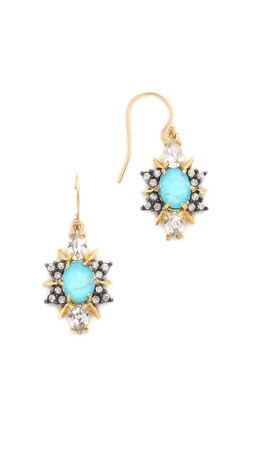 Alexis Bittar Crystal Doublet Earrings - Turquoise