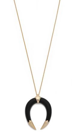 Alexis Bittar Horseshoe Pendant Necklace - Black