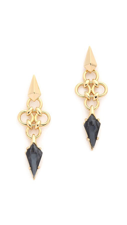 Alexis Bittar Petite Chainmail Kite Earrings - Gold/Black