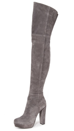 Alice + Olivia Halle Over The Knee Boots - Charcoal
