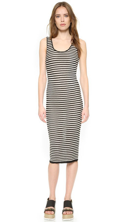 Alice + Olivia Janel Crochet Dress - Black/Off White