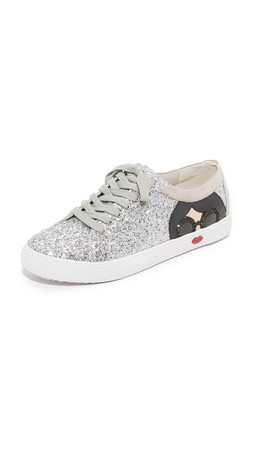 Alice + Olivia Stace Taylor Sneakers - Multi Silver Glitter