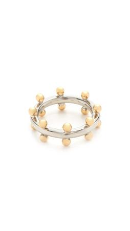 Amber Sceats Quinn Ring - Gold/Silver
