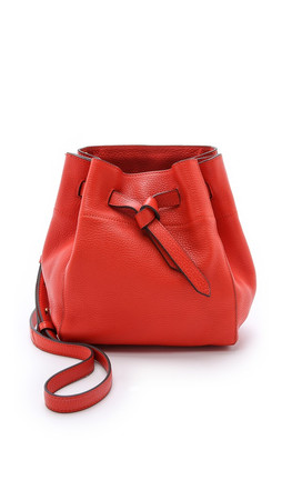 Annabel Ingall Georgia Small Bucket Bag - Coral