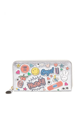 Anya Hindmarch All Over Wink Wallet - Silver