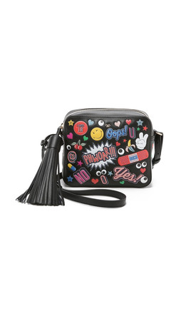 Anya Hindmarch Allover Wink Stickers Cross Body Bag - Black
