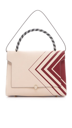 Anya Hindmarch Large Diamond Bathurst Satchel - Chalk/Vampire