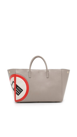 Anya Hindmarch No Mobile Ebury Tote - Light Grey