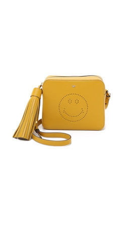 Anya Hindmarch Smiley Cross Body Bag - Mustard