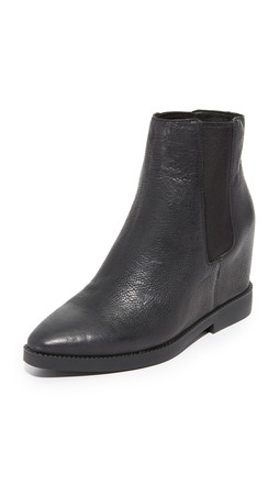 Ash Gong Wedge Booties - Black