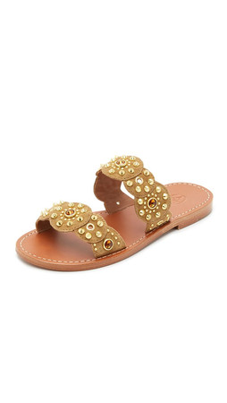 Ash Mumbai Slide Sandals - Camel