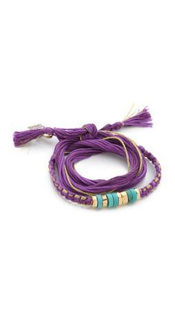 Aurelie Bidermann Takayama Bracelet - Violet/Turquoise