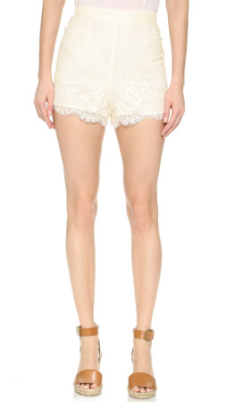 Bb Dakota Abott Lace Shorts - Vanilla