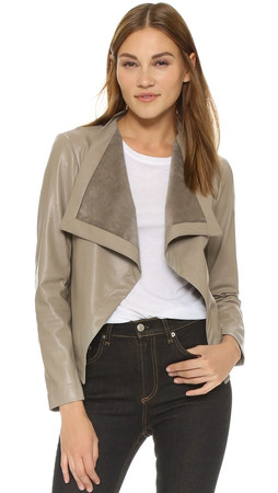 Bb Dakota Ariana Drape Front Jacket - Toffee